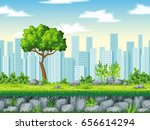 seamless cartoon background.... | Shutterstock .eps vector #656614294