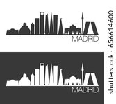 madrid skyline silhouette