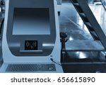 computer in the automated... | Shutterstock . vector #656615890
