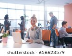 young female entrepreneur... | Shutterstock . vector #656623579