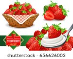 different group of strawberry | Shutterstock .eps vector #656626003