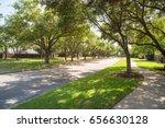 side view of asphalt road ... | Shutterstock . vector #656630128