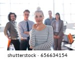 portrait of successful... | Shutterstock . vector #656634154