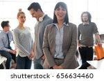 portrait of successful... | Shutterstock . vector #656634460