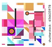 trendy geometric elements... | Shutterstock .eps vector #656635978