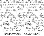 physical equations and formulas ... | Shutterstock .eps vector #656643328