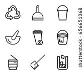 garbage icons set. set of 9... | Shutterstock .eps vector #656651368