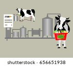 production of cow's milk.... | Shutterstock .eps vector #656651938