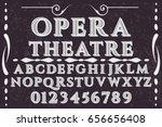 vintage font typeface vector...   Shutterstock .eps vector #656656408