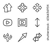 next icons set. set of 9 next...
