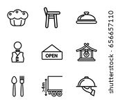 plate icons set. set of 9 plate ... | Shutterstock .eps vector #656657110