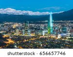Skyline Of Santiago De Chile A...