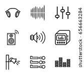 volume icons set. set of 9... | Shutterstock .eps vector #656663284