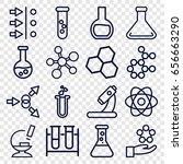 scientific icons set. set of 16 ... | Shutterstock .eps vector #656663290