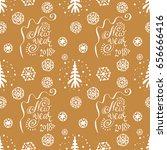 new year s vector seamless... | Shutterstock .eps vector #656666416