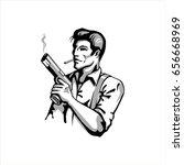 gangster | Shutterstock .eps vector #656668969