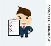 businessman with checklist on... | Shutterstock .eps vector #656670070