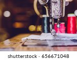 old sewing machine | Shutterstock . vector #656671048