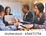 business people to discussing... | Shutterstock . vector #656671756