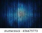 2d illustration technology... | Shutterstock . vector #656675773