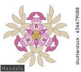 floral symmetrical geometrical... | Shutterstock .eps vector #656679088
