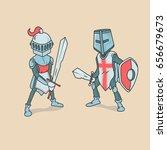 vector illustration of knights... | Shutterstock .eps vector #656679673