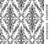ikat ogee and damascus ornament ... | Shutterstock .eps vector #656680108