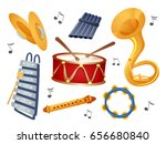 illustration of cymbals ... | Shutterstock .eps vector #656680840