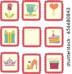 Illustration Of Stamp Sticker...