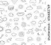 weather seamless pattern | Shutterstock .eps vector #656682769