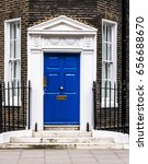 Small photo of Bloomsbury door amd windows in London. England
