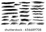 black ink vector brush strokes. ... | Shutterstock .eps vector #656689708