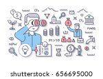 entrepreneur with startup idea... | Shutterstock .eps vector #656695000