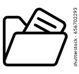 folder vector icon | Shutterstock .eps vector #656702293
