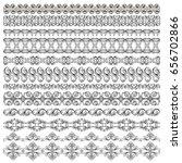 illustration set of symmetrical ... | Shutterstock .eps vector #656702866