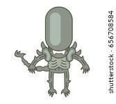 vector isolated monster   Shutterstock .eps vector #656708584