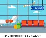 airport flat vector... | Shutterstock .eps vector #656712079