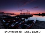 small rowing boats and... | Shutterstock . vector #656718250