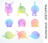 set of colorful vector line...   Shutterstock .eps vector #656719996
