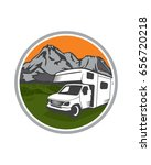 rv adventures logo vector | Shutterstock .eps vector #656720218