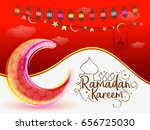 illustration of ramadan kareem... | Shutterstock .eps vector #656725030