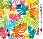 vector seamless pattern with... | Shutterstock .eps vector #656732878