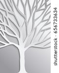 abstract tree in 3d paper cut... | Shutterstock .eps vector #656733634