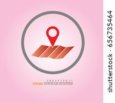 map icon with pin pointer... | Shutterstock .eps vector #656735464