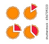 pie chart illustration set with ... | Shutterstock .eps vector #656739223