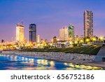 Tel Aviv  Israel Skyline On Th...