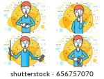 set vector illustration orator... | Shutterstock .eps vector #656757070