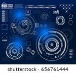 futuristic virtual graphic... | Shutterstock .eps vector #656761444