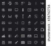 forty nine white set art and... | Shutterstock .eps vector #656762716