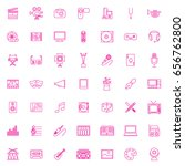 forty nine pink set art and... | Shutterstock .eps vector #656762800